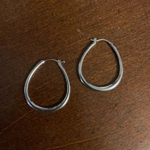 Sterling Silver hoops Fossil brand